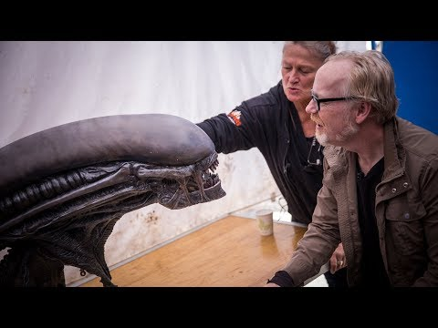 Adam Savage Meets Alien: Covenant's Xenomorph Animatronic!