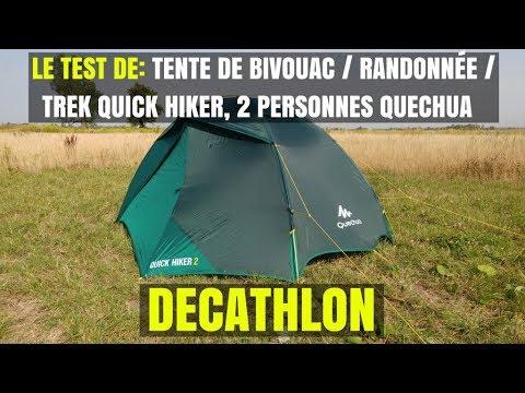 Le test de Tente de bivouac / randonnée / trek Quick Hiker 2 personnes Quechua - DECATHLON & Le test de: Tente de bivouac / randonnée / trek Quick Hiker 2 ...