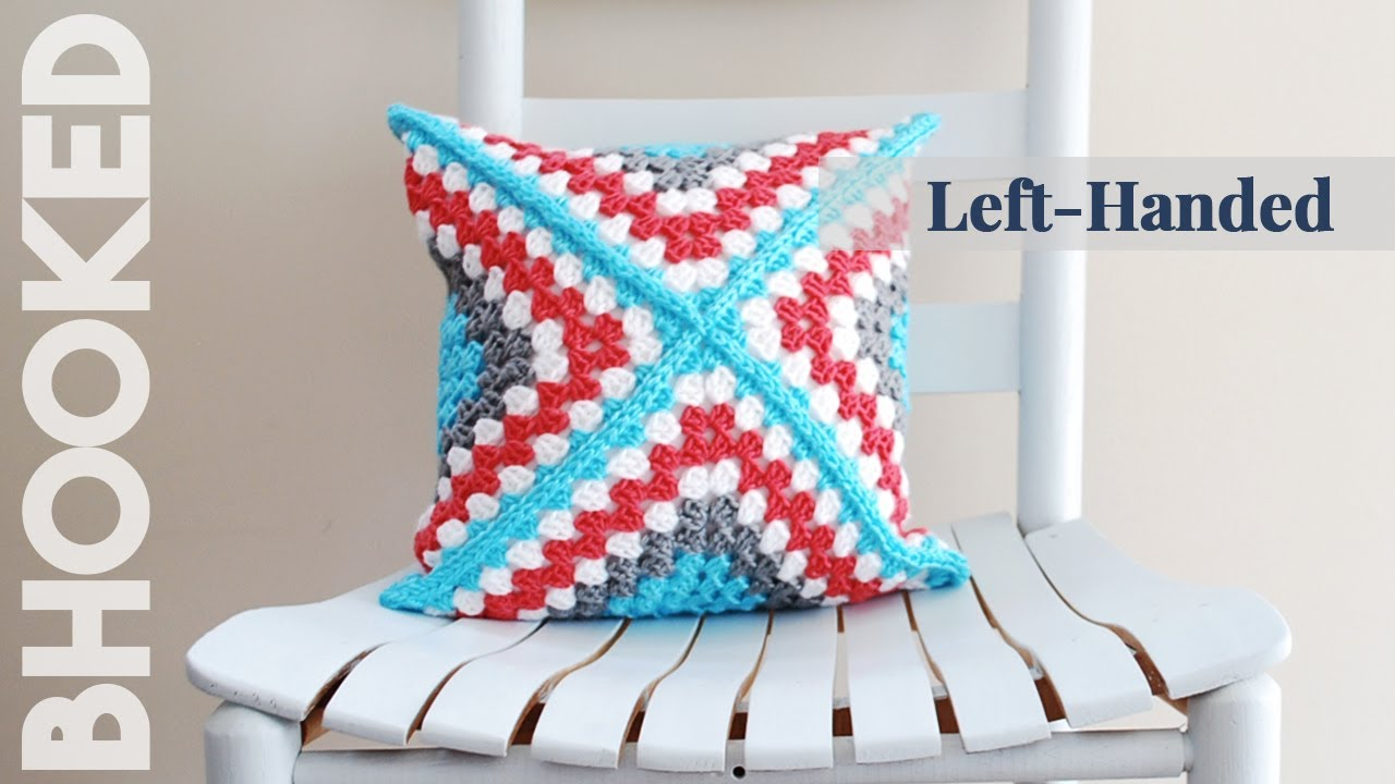 How To Crochet A Pillow Left Handed Retro Granny Square