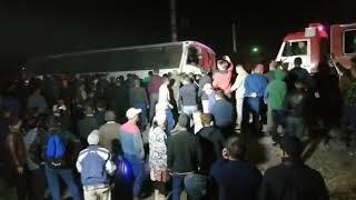 Ведется поиск тел на месте ДТП с поездом в Шамалгане (15.09.19)