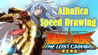 Speed Drawing - Pisces Albafica - Saint Seiya The Lost Canvas