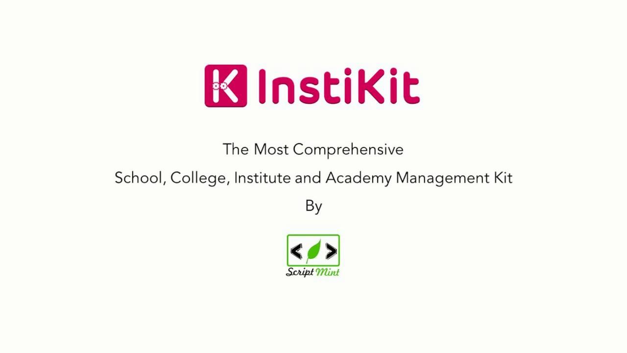 Installing InstiKit - School, College, Institute & Academy