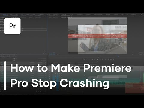 How To Stop Premiere Pro From Crashing | Tutorial