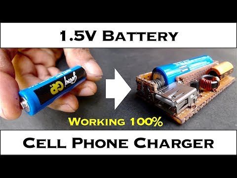 AAA (1 5V) Single Battery Cell Phone Charger - YouTube