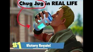 How to make CHUG JUG in REAL LIFE! FORTNITE