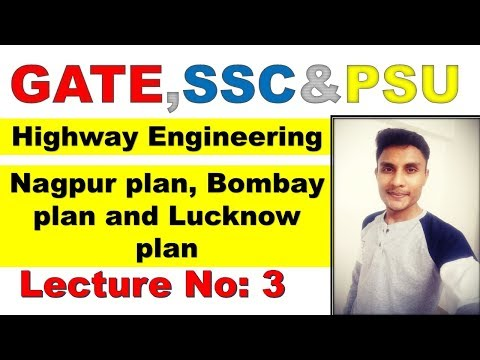 Nagpur plan, Bombay plan and lucknow plan (GATE|IES|PSU) Highway engineering