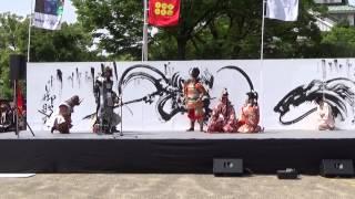 大坂ノ陣合戦祭り 2015.5.15 入城 秀頼、淀君、千姫(マイク不調・・・) ...