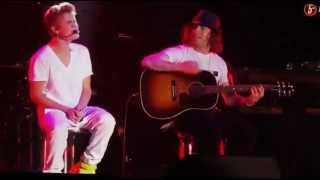 Justin Bieber - Die in your arms acoustic in Mexico