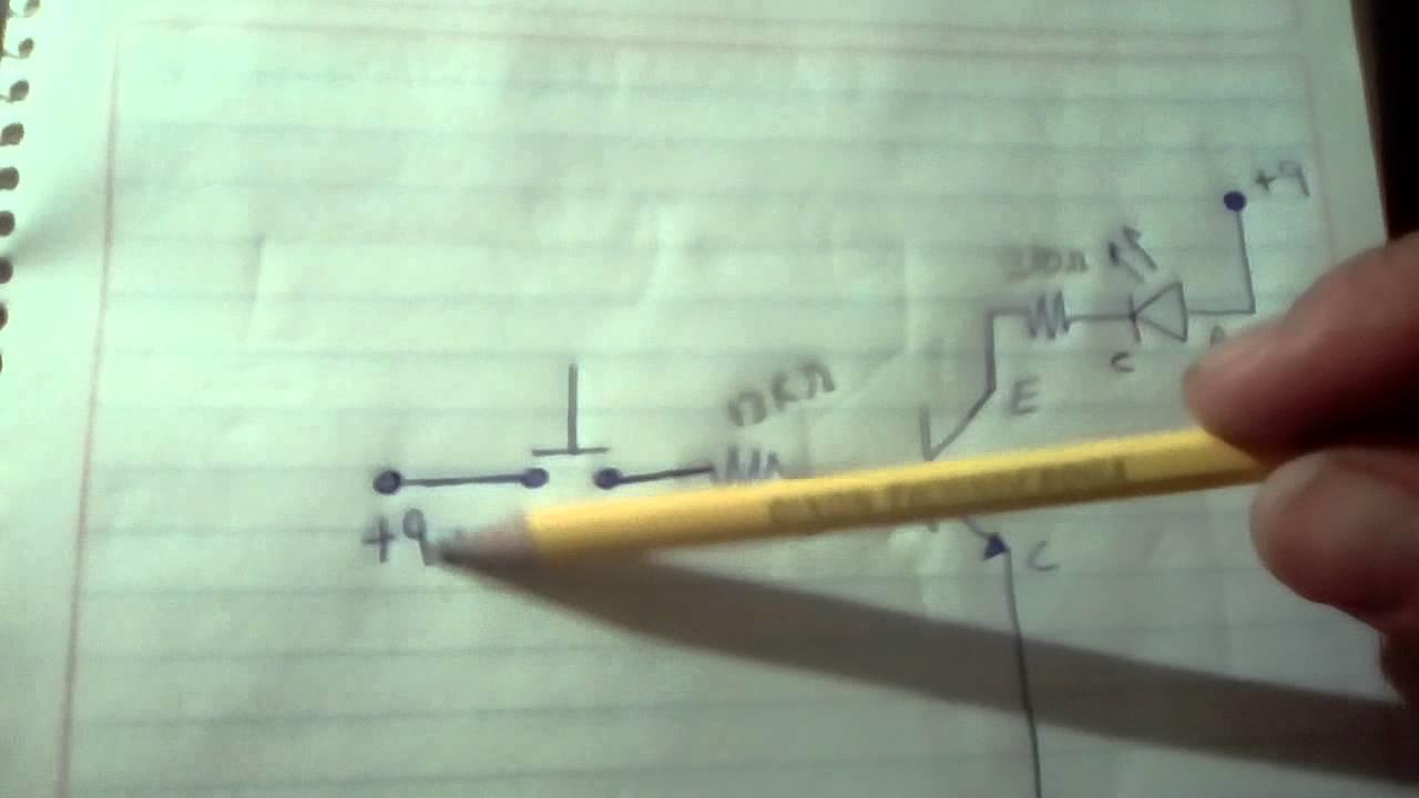 Como Conectar Un Led A Transistor 2n2222a Youtube Circuito Basado Probador De Transistores