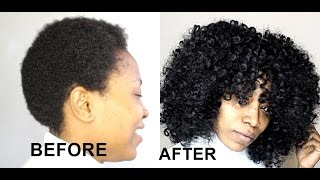 How To Slay Crochet Braids On Short Natural Hair Youtube