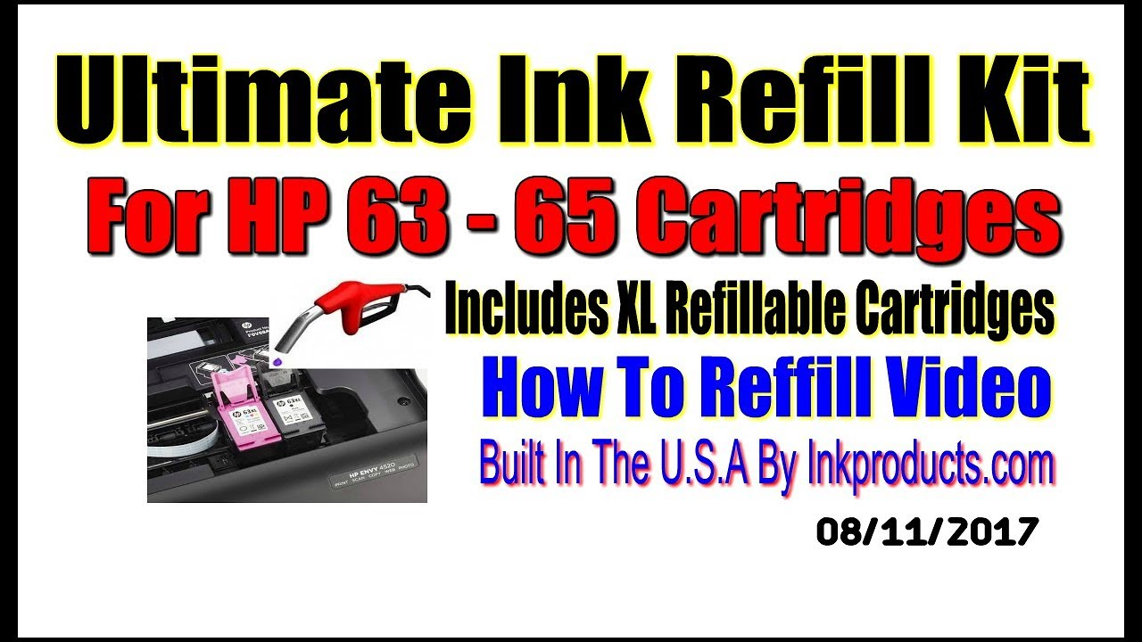 Ultimate Ink Refill Kit For HP 63 Color and Black Cartridges - Refill Kits  That Work!