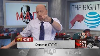 Jim Cramer: AT&T shares can go 'much, much higher' if management can deliver