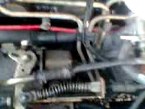 fixing an airlock on a diesel escort van
