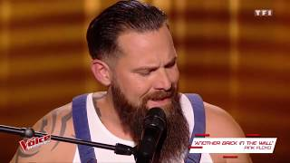 Will Barber performs Pink Floyd's–Another Brick In the Wall in The Voice 2017 France Blind Audition