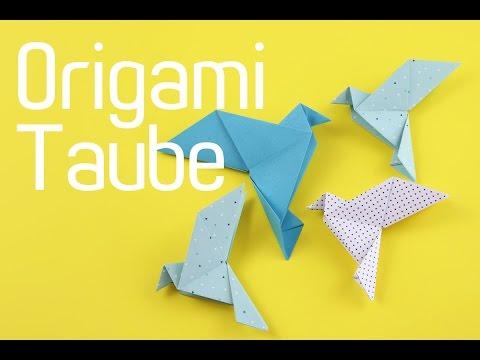 origami taube falten origami vogel anleitung youtube