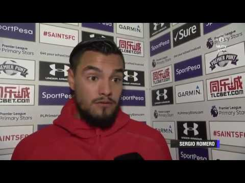 Romero's Interview After Penalty Save Against Southampton