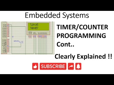 [ES-EN-26] 8051 Timer/Counter Programming continuation-lession-26