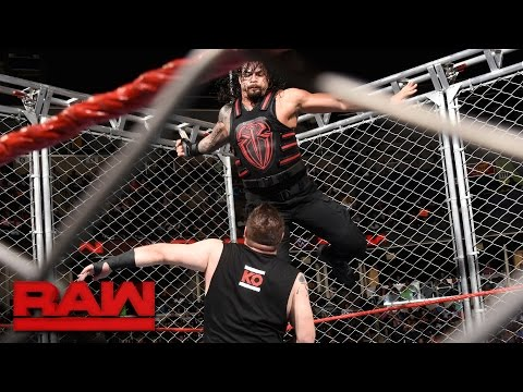 Thumbnail: Roman Reigns vs. Kevin Owens - Steel Cage Match: Raw, Sept. 19, 2016