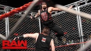 roman reigns vs kevin owens steel cage match raw sept 19 2016