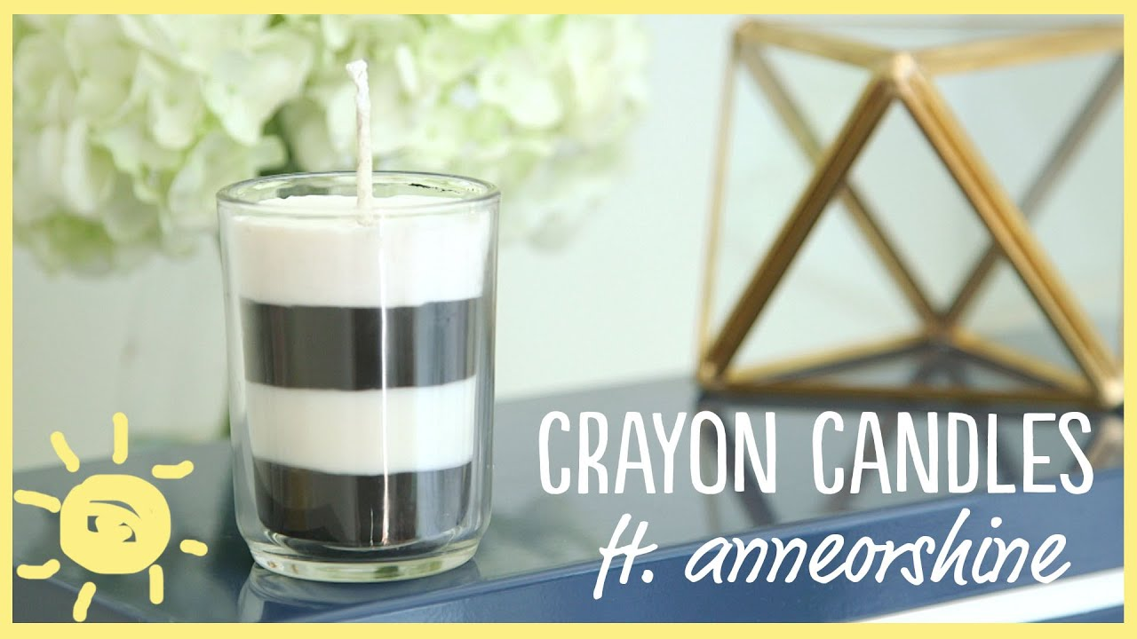 DIY | How to Make Your Own Candles (with Crayons!!) Ft ...