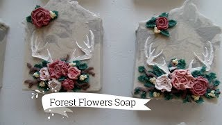 Making Forest Flowers cold process soap