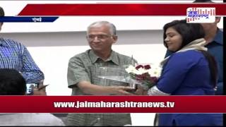 Jai Maharashtra news Anchor Sushma paratwagh awarded for Dahakwastav