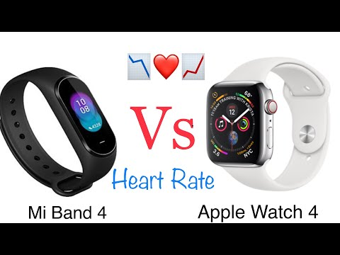 Xiaomi Mi Band 4 Vs. Apple Watch Series 4 (Heart Rate)