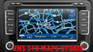 How to: Volkswagen RNS 510 - Update maps V.15 East Europe from DVD