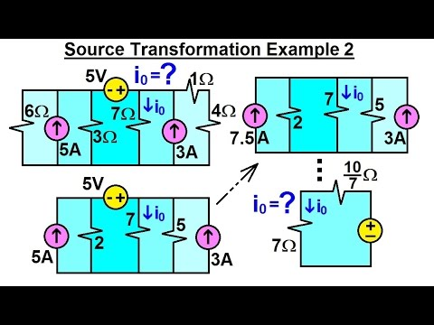 Electrical Engineering: Ch 4: Circuit Theorems (12 of 32) Source Transformation Ex. 2