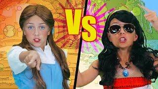 Princess Rap Battle 2 | Moana VS Belle | Funpop!