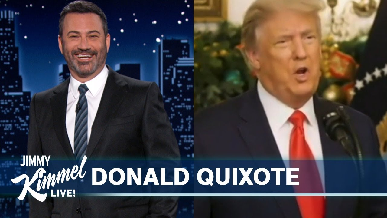 Trump Lashes Out at Canada & Windmills While Texas Builds Terrible Wall - Jimmy Kimmel Live