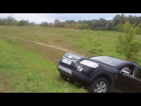 Chevrolet Captiva 2.0d offroad up the hill