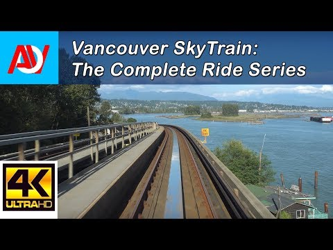 Vancouver SKYTRAIN: EXPO LINE Columbia to Production Way-University (sun) - The Complete Ride 4K