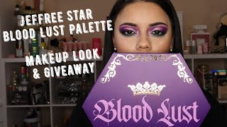 JEFREE STAR BLOOD LUST PALETTE REVIEW AND MAKEUP TUTORIAL | Giveaway | TRV Beauty