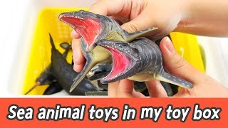 [EN] Sea animal toys in my toy box! animal names and sounds, collecta figuresㅣCoCosToy