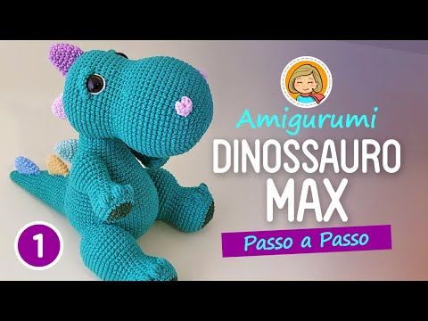 Amigurumi Dinosaurier - mit Rassel - Häkelanleitung - Tutorial ... | 360x480