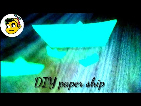 DIY paper ship easy and diy fun.