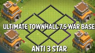 CLASH OF CLANS - easy th7.5 base; anti 3 th7/th8, best pushing base / free gems ;D