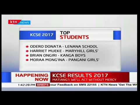Knec kcse 2017 results download