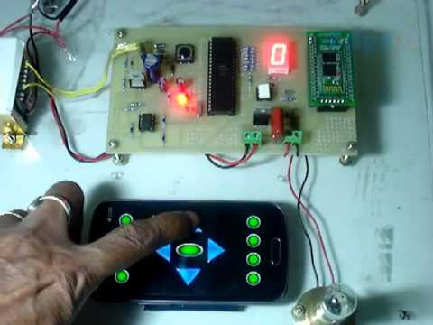Induction Motor Control By Android Remote With 7 Segment Display Youtube