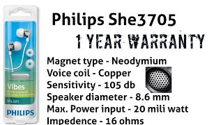 Philips SHE3705 copper coil, with mic review