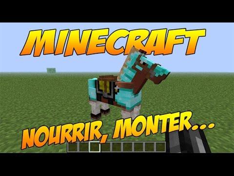 Minecraft nourrir un cheval le monter le dresser le nommer youtube - Cheval minecraft ...