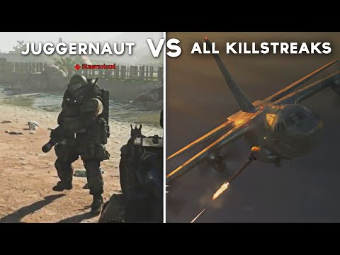 All Killstreak Attacks On Juggernaut - Call Of Duty: Modern Warfare (Juggernaut Vs Every Killstreak)