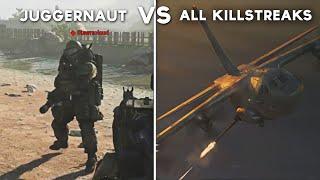 All Killstreak Attacks on Juggernaut - Call of Duty: Modern Warfare (Juggernaut vs Every Killstreak)