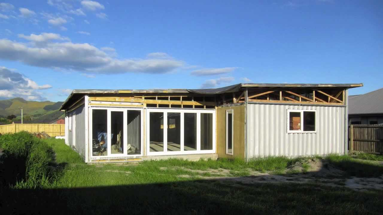 Kuziel residence build of a shipping container house - How to build storage container homes ...