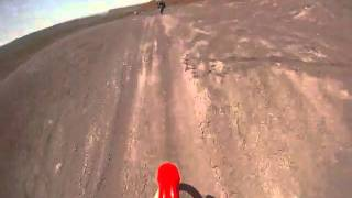 Dirt bike jumping in Warner Valley, Southern Utah