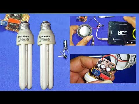 Buat ampli mini dari komponen lampu