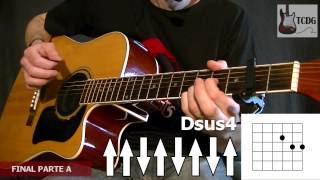 Como Tocar Wonderwall en Guitarra Acústica (Oasis) Parte 3 / Tutorial Fácil para Principiantes TCDG