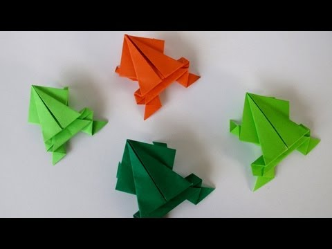 These Origami Jumping Frogs Are Slightly More Difficult Than The Rabbits As They Have A Advanced Center Fold With Little Practice Though