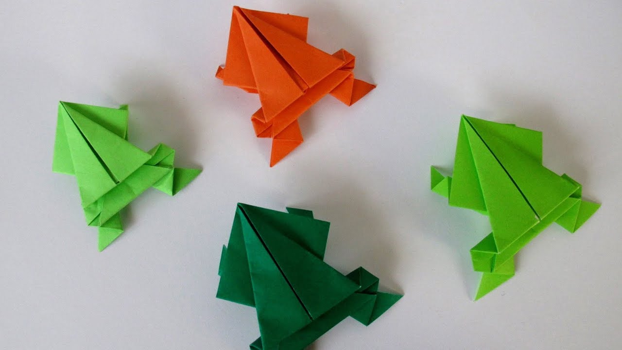 Jumping frog origami - photo#15